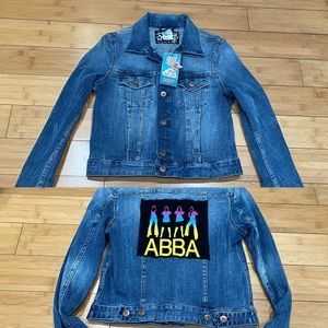Rare H&M🤘🏻on❤️all be☮️  ABBA Denim Jacket Sz. 4